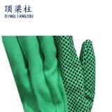 gants de travail de 10g T/CD avec les points de polka unilatéraux de PVC