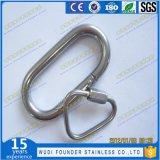 Tipo largo anillo rápido en forma de pera del acero inoxidable de la conexión