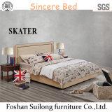 Base americana moderna A21 della camera da letto del cuoio della base del tessuto di stile