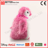 Pingouin rose bourré par jouet mou de peluche de caresse pour le bébé