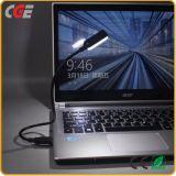 Mini luz popular del USB LED del cable del metal flexible de 4 SMT LED para la lectura de la computadora portátil