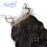 le chiusure del merletto 4X4 liberano i capelli allentati cinesi naturali non trattati dell'onda della parte