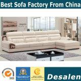 Melhor qualidade de mobiliário de escritório L Shape sofá de couro (A843)