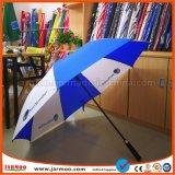 UV Coated выдвиженческий зонтик гольфа с печатание логоса