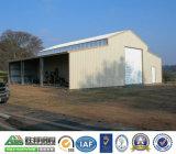 녹색 강철 구조물 조립식 가옥 창고