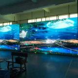 Pantalla de visualización video a todo color al aire libre de interior curvada flexible del LED