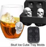 Strumenti del gelato del regalo della muffa del cioccolato dei cassetti del silicone del partito della barra del creatore della muffa del cubo di ghiaccio di figura 3D del cranio