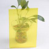 do policarbonato UV do revestimento do preço de 8mm estufa oca plástica Kerala da folha