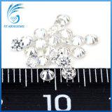 2.5mm 둥근 백색 색깔 화려한 커트 Moissanite 다이아몬드