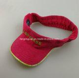Chapéu da viseira de Sun dos esportes da forma com logotipo de borracha da cópia