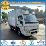 3 Tonnen des Yuejin Kühlraum-Fahrzeug-6 Rad-frische Nahrungsmitteltransport-LKW-