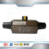 Double actionneur pneumatique de renvoi d'action et de ressort