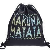 普及したティーネージャーの学校の黒の肩の水泳のドローストリング袋