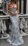 Espaguetis forman parte de la Prom vestidos de celebridades Eliesaab Cordón mano vestido de noche Es10