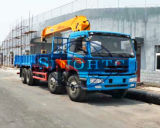 트럭 8-12 톤은 FAW 화물 자동차 기중기 화물 자동차 트럭 거치한 기중기를 거치했다