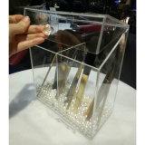 Suporte de escova acrílico personalizado fornecedor de China com 3 compartimentos