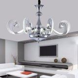 Lampadario a bracci fissato al muro del cigno della candela bianca alla moda di figura LED