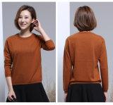 Новые моды девочки - Вязание Pullover раунда шею шерстяной свитер
