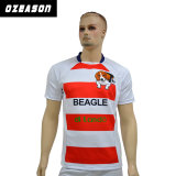 Libérer l'uniforme respirable de rugby personnalisé par modèle avec le tissu de couplage (R013)