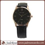 Mode résistante en cuir Ladieswatch ultra-mince de l'eau de montre-bracelet de bande