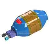 Schelle Od48.3 der Rohrleitungen mit kupfernen Zwischenlagen