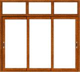 Vitre coulissante de économies d'énergie avec des cadres de fenêtre d'aluminium brun