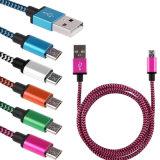 Trenzado Nylon mayorista Cable cargador micro USB para el iPhone 8