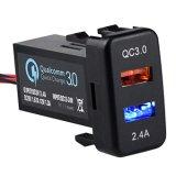 Port USB double Prise chargeur charge rapide 3.0 et 2.4a pour Toyota