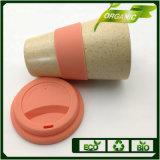 400 ml de silicona de colores de la Copa de bambú con tapa