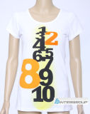 Lady's T-shirt avec logo imprimé (BG-L198)