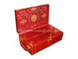 Декоративные подарочный пакет из переработанных оптовая торговля вином из натуральной кожи в салоне (FG8014)