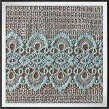 Laço químico da guipura da tela poli do laço do bordado