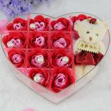 Boîte en acrylique Rose en forme de coeur personnalisée de haute qualité