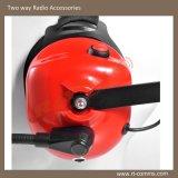 За головным сверхмощный шлемофоном с кабелем XLR для двухстороннего радиоего