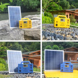 sistema casero solar de 20W Llighting con la lámpara del LED