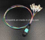 원거리 통신 광섬유 하락 케이블 MPO 접속 코드