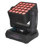 Endloses drehendes 25pcsx15W RGBW 4in1 bewegliches Hauptstadiums-Licht des Vierradantriebwagen-LED
