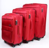 B0239 Red Colour 3pics Travel Luggage Bag