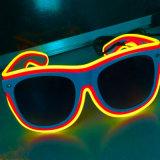 Art-leuchteten Doppelfarbe EL-Drähte Party-Gläser