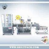 Máquina de etiquetas de superfície adesiva automática da caixa de ovo