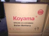 12V 100ah 태양 PV 시스템을%s 태양 깊은 주기 젤 건전지