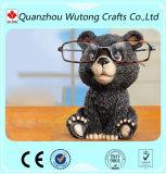 Custom Diversos Stander Animal urso preto estátua porta-óculos decoração Resina Stander