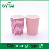 도매 Eco-Friendly 싼 잔물결 종이컵 처분할 수 있는 최신 커피 종이컵