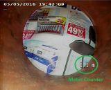 Видеоий записи и тональнозвуковая водоустойчивая камера осмотра трубы сточной трубы с счетчиком метра и 512Hz передатчиком V8-3388t