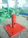 Puder-überzogene Grundplatte für Rahmen-Baugerüst-Systems-Gestell