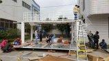 가벼운 강철 아파트 건물 내열 콘테이너 조립식 가옥 집