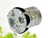 Mode bijoux de corps en acier inoxydable 316L avec un gros diamant (ZD002)