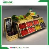 Prateleiras de indicador de madeira das gôndola da fruta