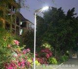 2018 rue de jardin LED solaire intégré de la lumière avec panneau réglable