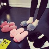 Новые дома моды тапочки фо кролик мех леди тапочки для зимы